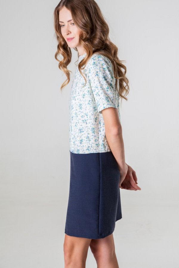 Bicolor Cotton Dress