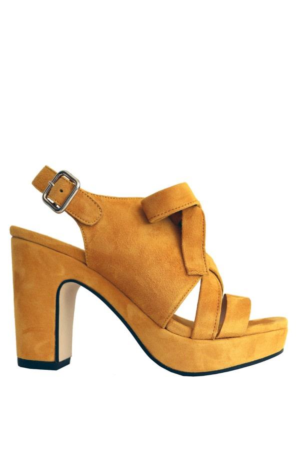 Bow Suede Platform Sandals