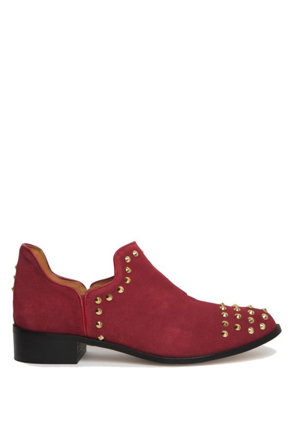 Studded Cut-Out Ankle Boots