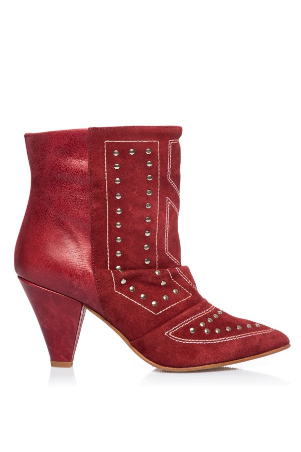 Zenda Studded Ankle Boots