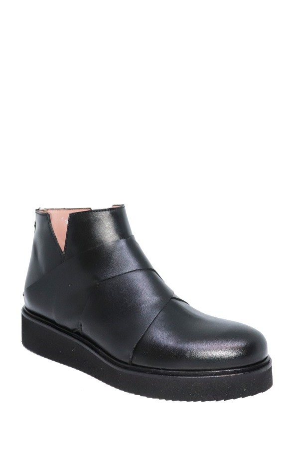 Micro Flatform Ankle Boots