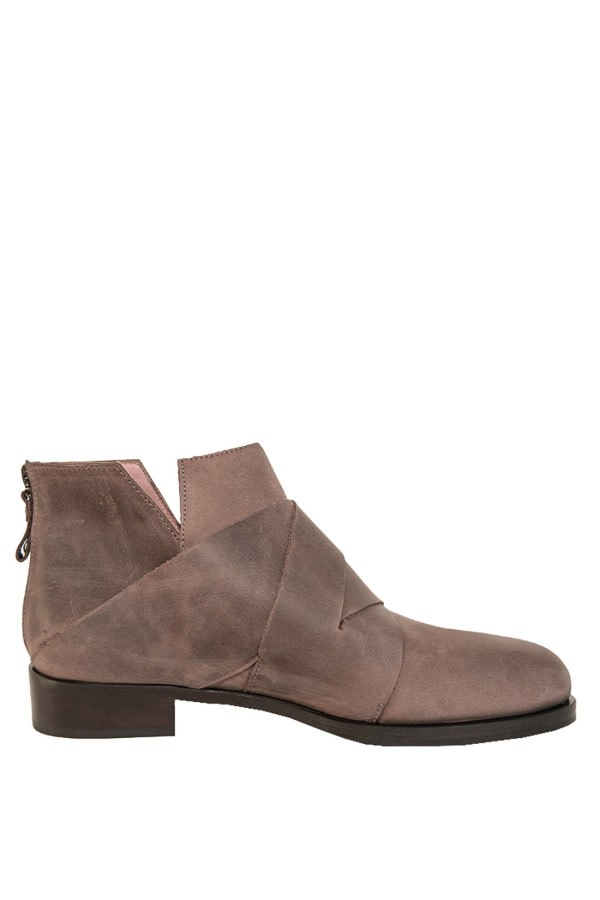 Nut Leather Ankle Boots