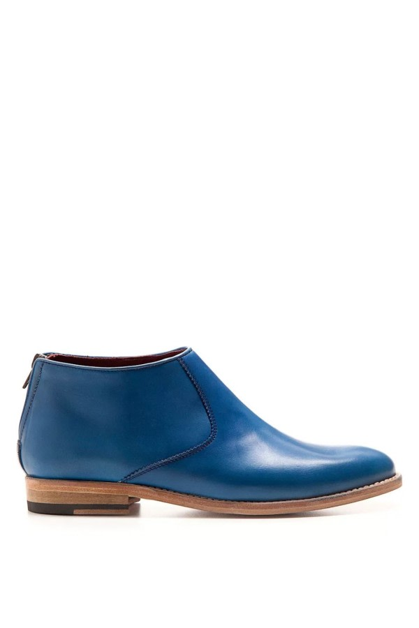 Astrud Blue Leather Boots