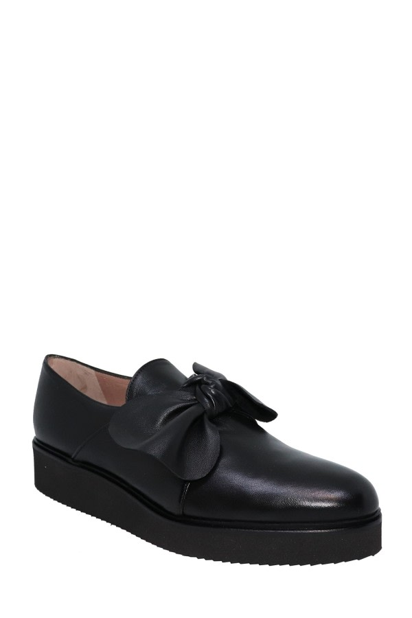 Bow Leather Loafers