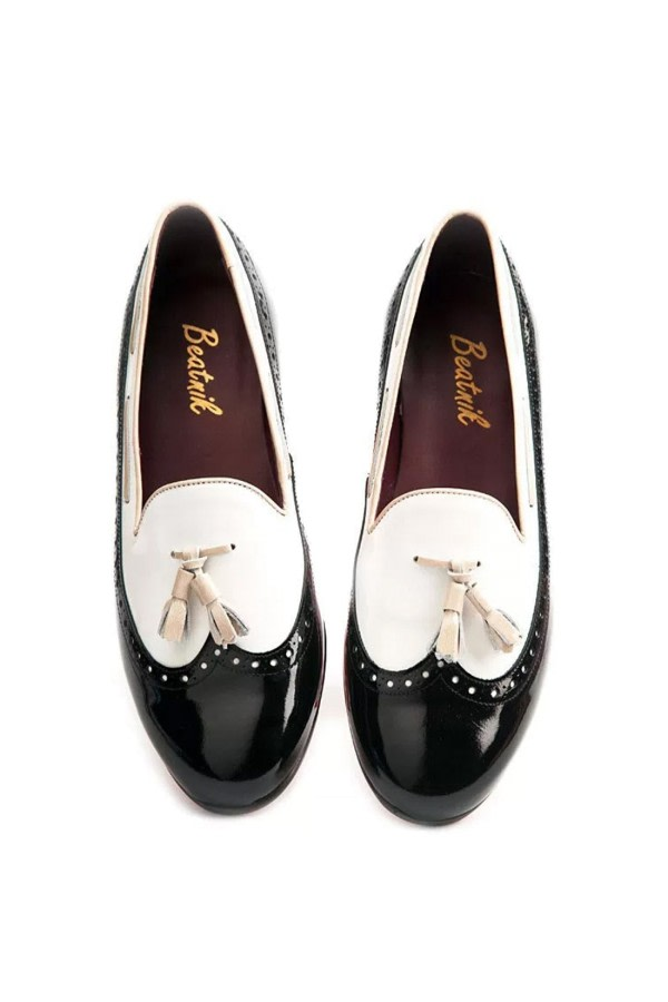 Tassel Patent-Leather Loafers