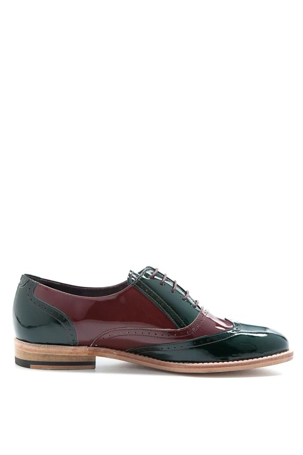Lena Patent-Leather Brogues