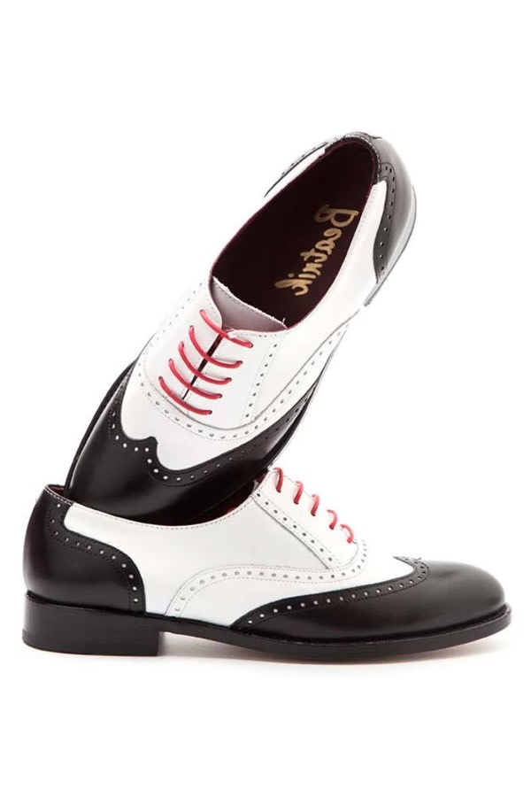Black & White Leather Brogues