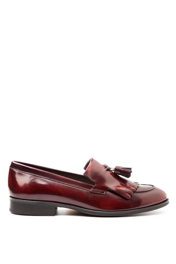 Tammi Burgundy Tassel Loafers