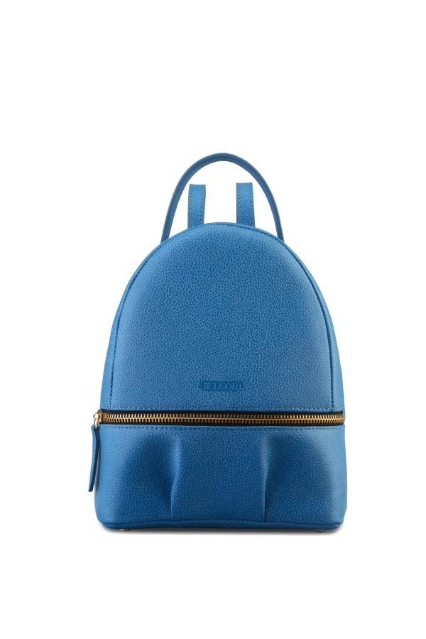 Sky Blue Bio Leather Backpack