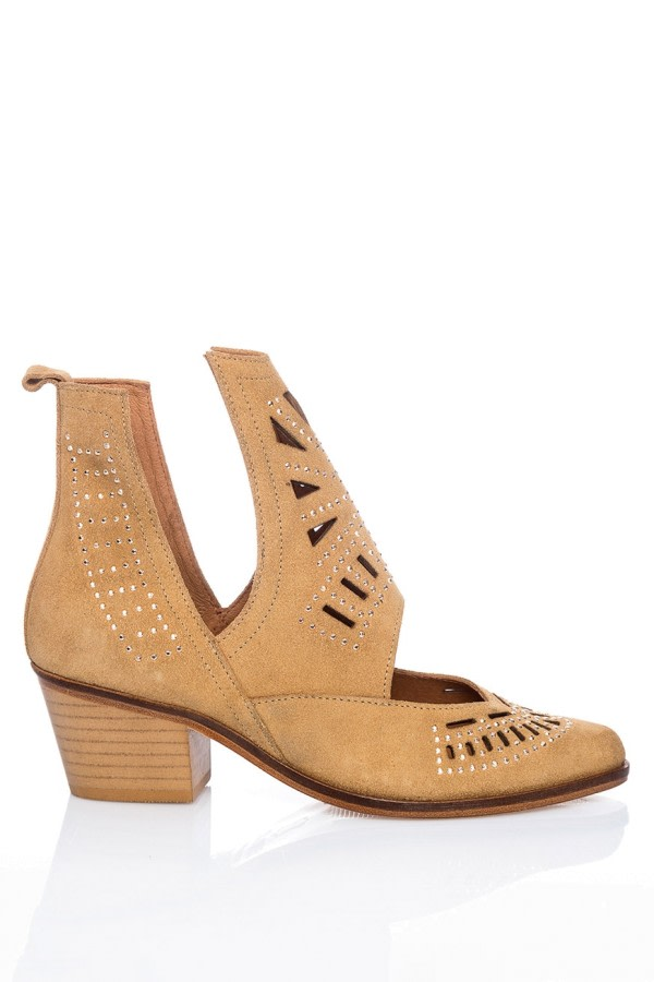 Cut-Out Suede Ankle Boots