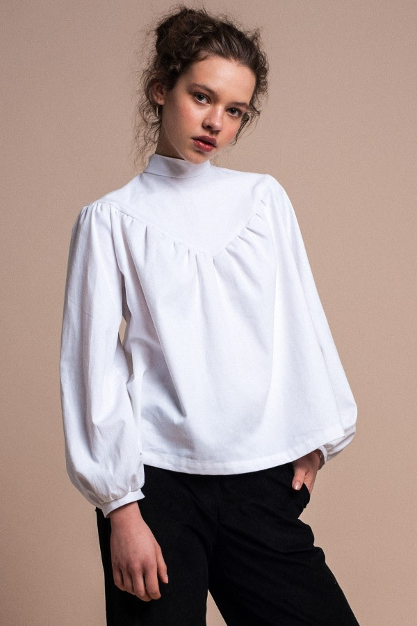 White Organic Cotton Blouse