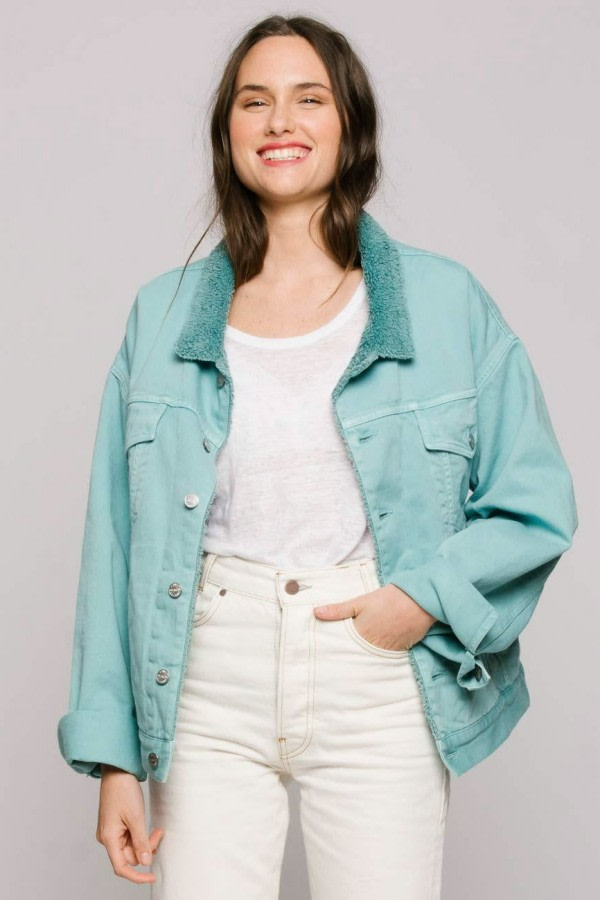 Aquamarine Oversized Denim Jacket