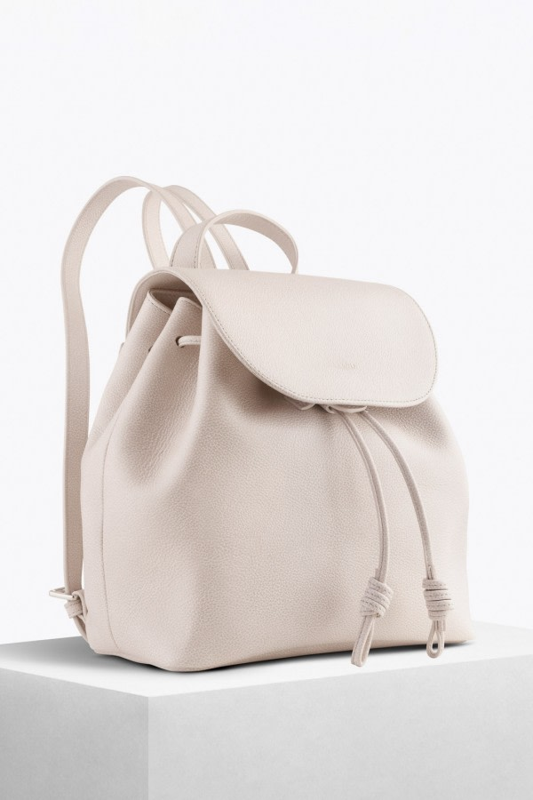 Tulipa White Bio Leather Backpack