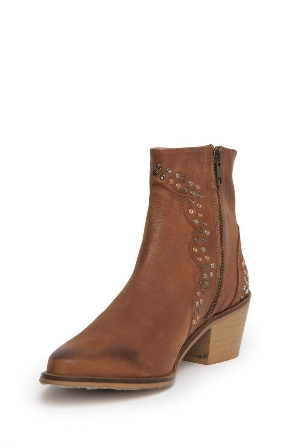 Western Studded Ankle Boots