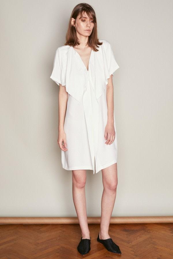 White Oversized Ruffle Dress