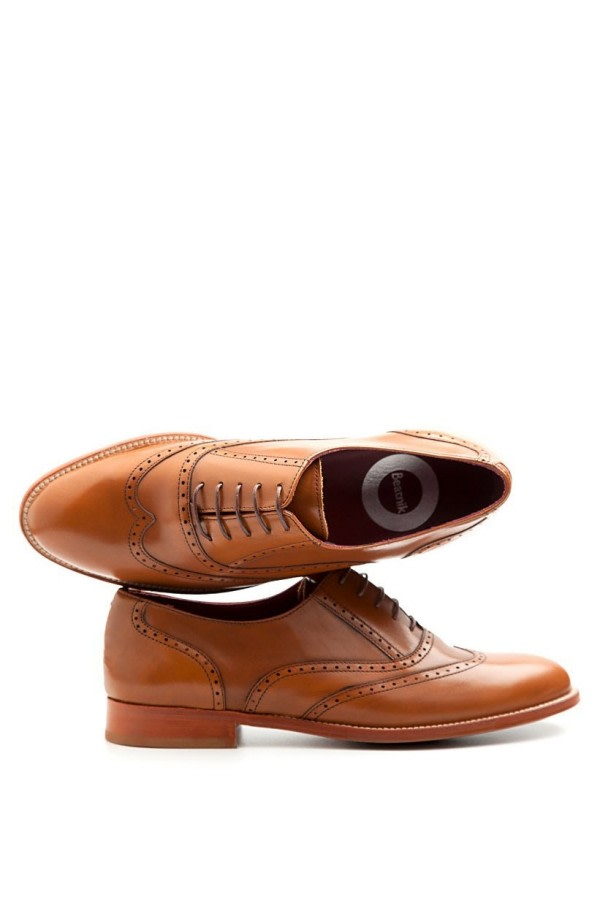 Lena Brown Leather Brogues