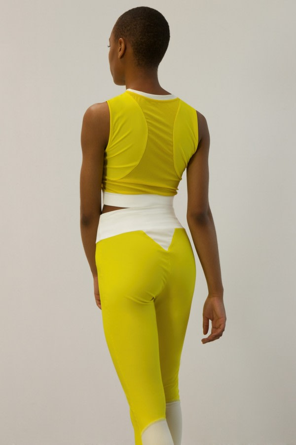 Yellow UPF 50+ High-Waist Leggings