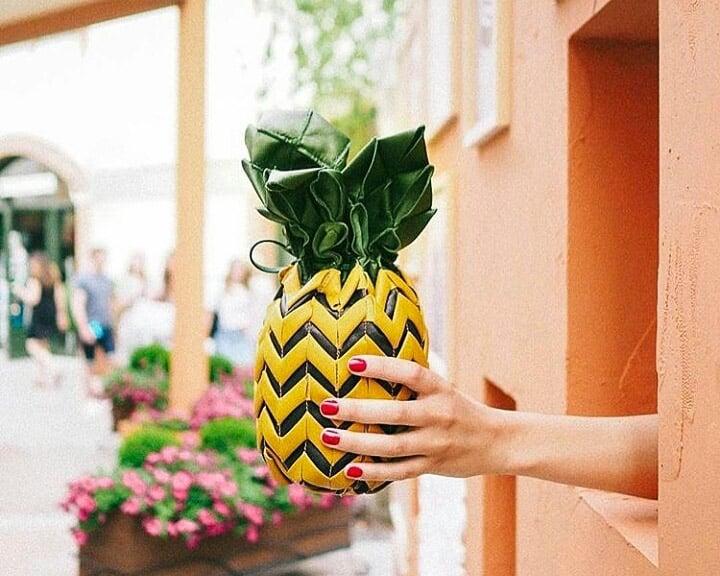 Tika designer pineapple bag image