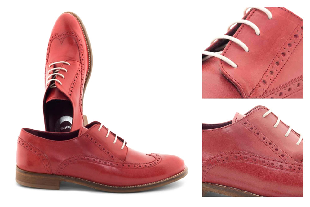 Orange Leather Brogues for Women: Perfect for women who wish to be elegant and stand out