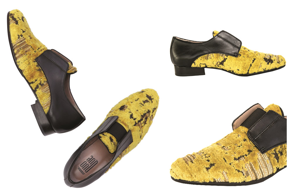 Citron-Yellow Leather Brogues for women: They are eye-catching beauties handmade from the upcycled leather