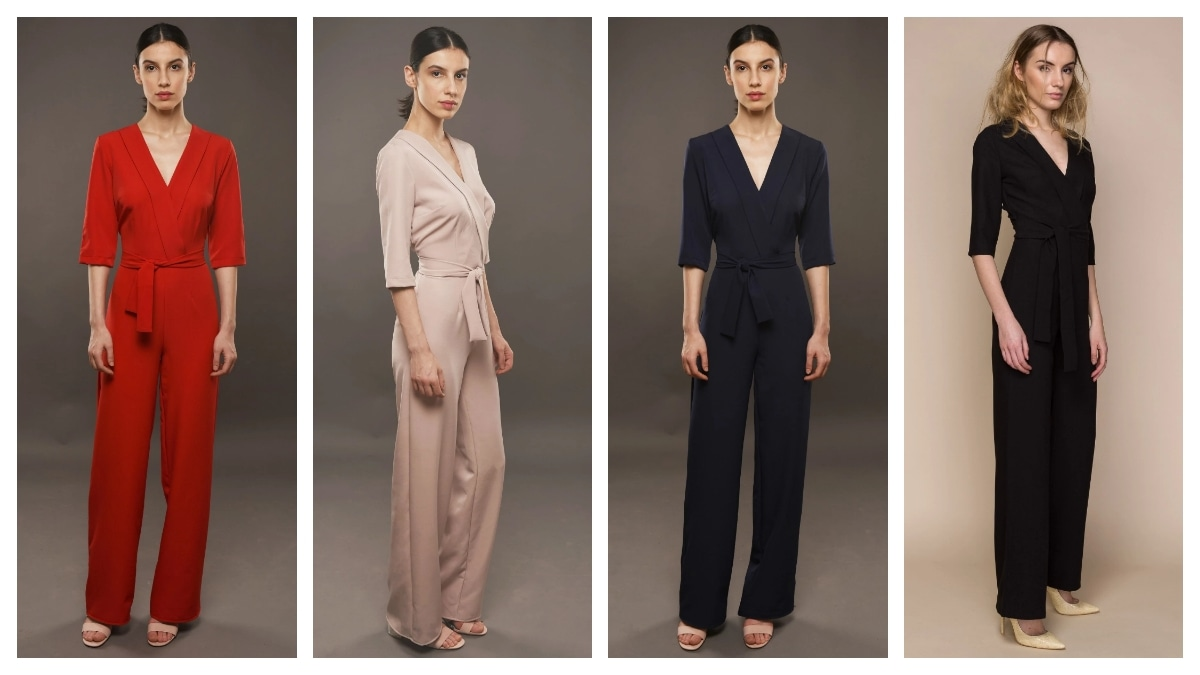 Fashion jumpsuits are a great example of European elegant clothing style