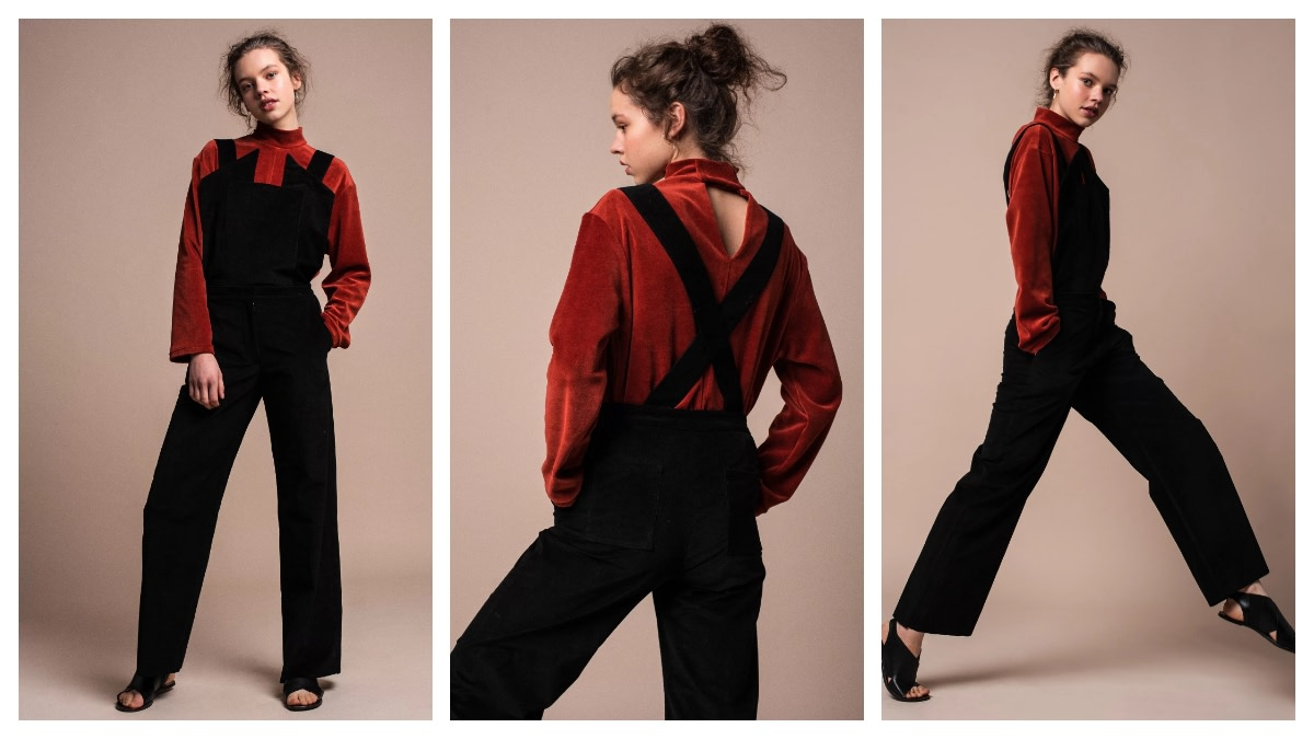 Great example of versatile, European capsule wardrobe style in this detachable jumpsuit for women