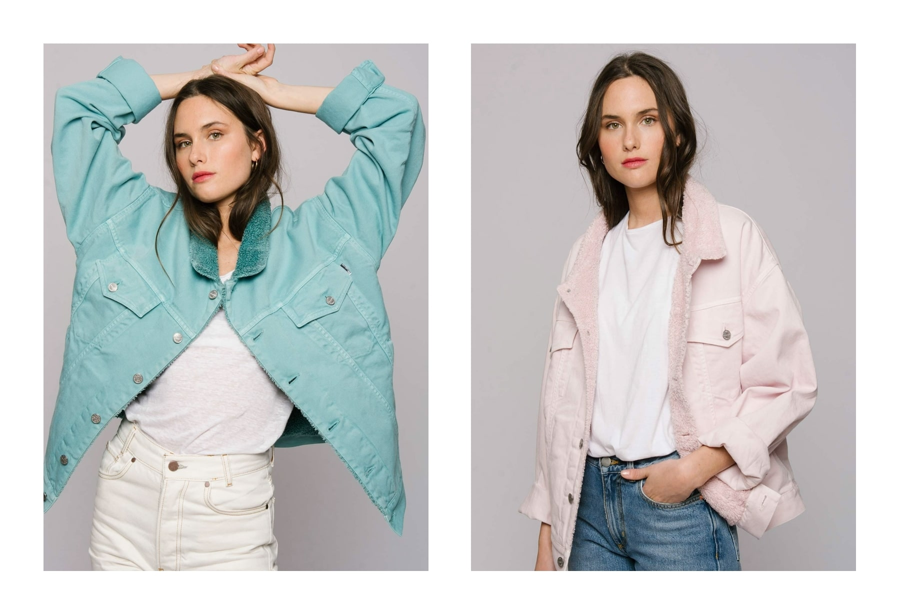 Denim jackets by The Shearline are comfortably chic and let you customize your style with a custom colored inner and outer lining