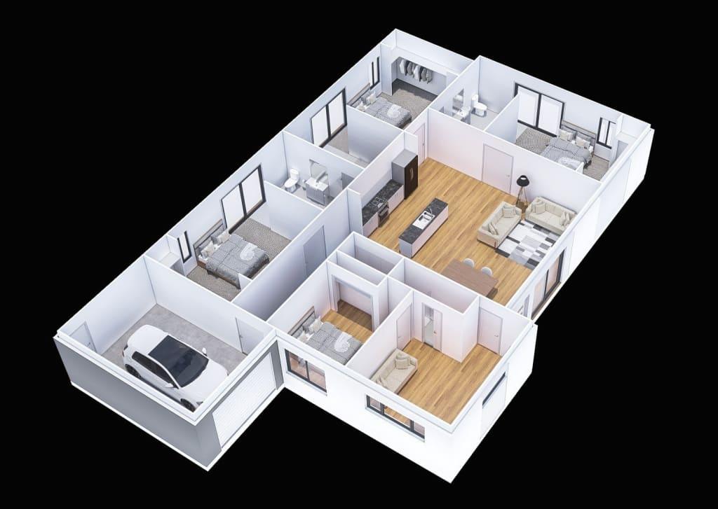 3 Bed SDA floorplan