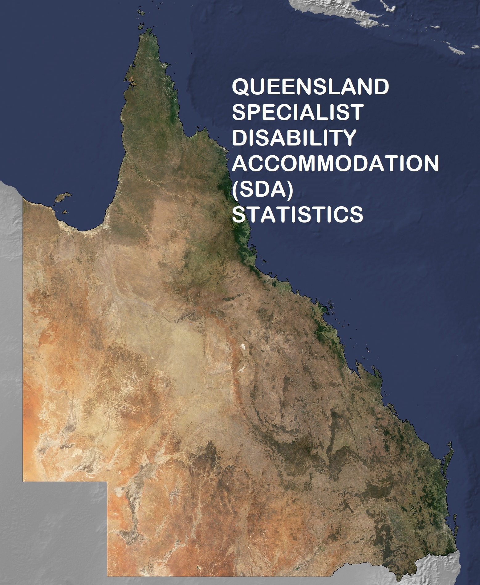 satellite image of QLD