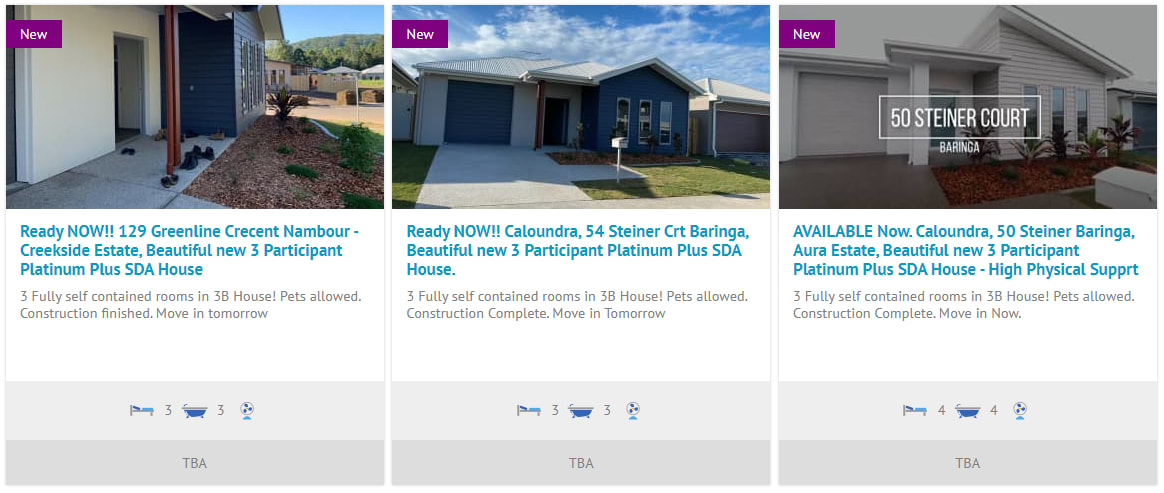 screenshot from ndisp website showing our three new rental properties