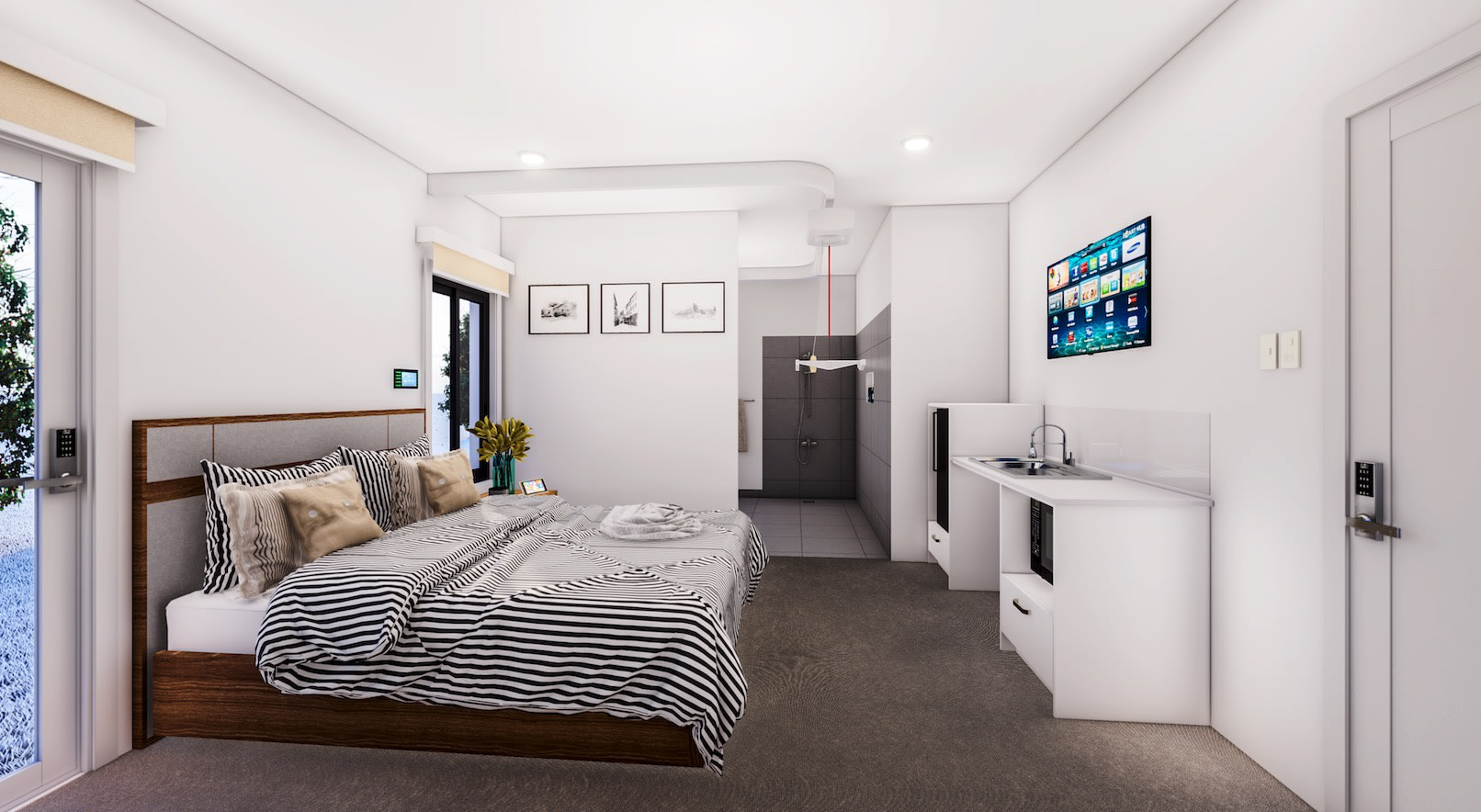 Bedroom in a Choice 3 H
