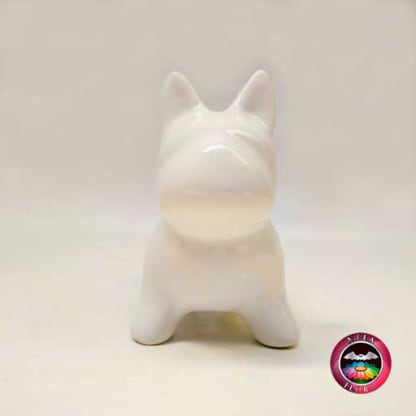 Suculenta maceta cerámica animales perro frontal Neea Flora