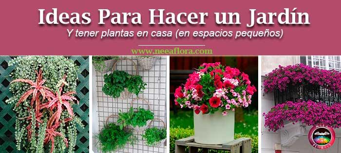 Post ideas para hacer un jardín y tener plantas en casa en espacios pequeños. Neea Flora