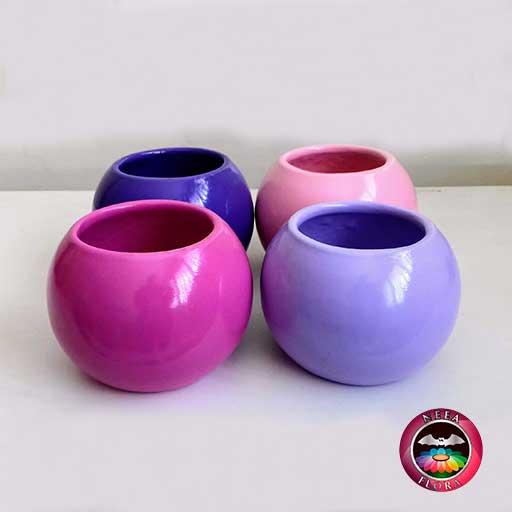 Materas cerámica bolitas colores morada púrpura rosa fucsia púrpura Neea Flora