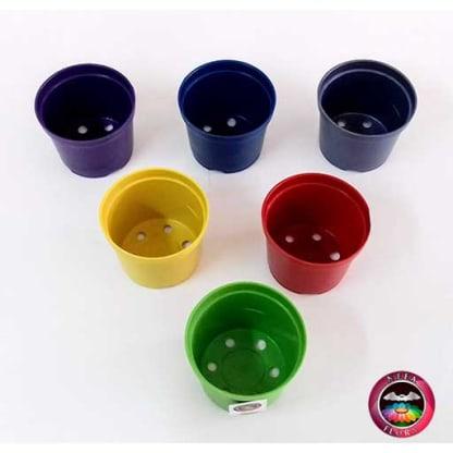 Materas plásticas 8cm colores superior Neea Flora