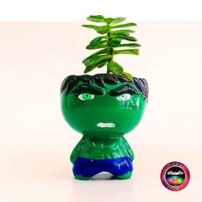 Suculenta matera cerámica super heroes Hulk Neea Flora