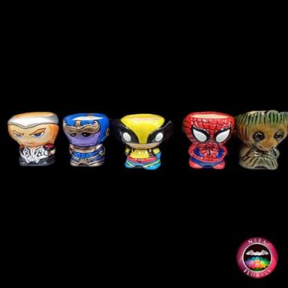 Matera cerámica superhéroes Marvel y DC Cómics Thor, Thanos, Wolverine, Spiderman, Groot