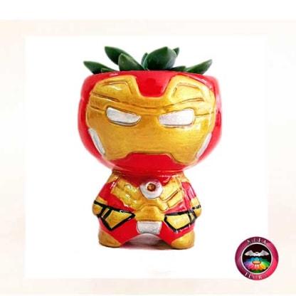 Suculenta matera cerámica super heroes Iron Man Neea Flora