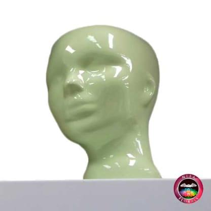 Matera cerámica cabeza mujer Lovelace verde diagonal