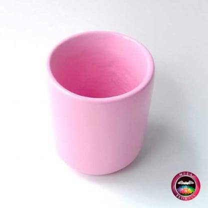 Matera cerámica cilindro roja diagonal Neea Flora