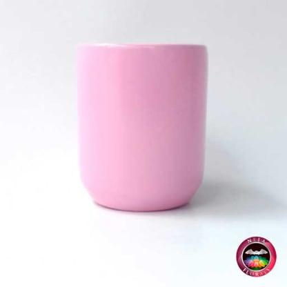Matera cerámica cilindro rosa lateral Neea Flora