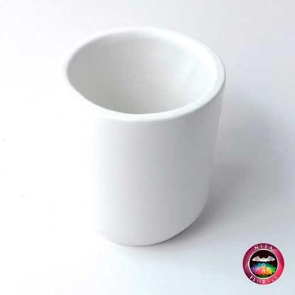 Matera cerámica cilindro blanca diagonal Neea Flora
