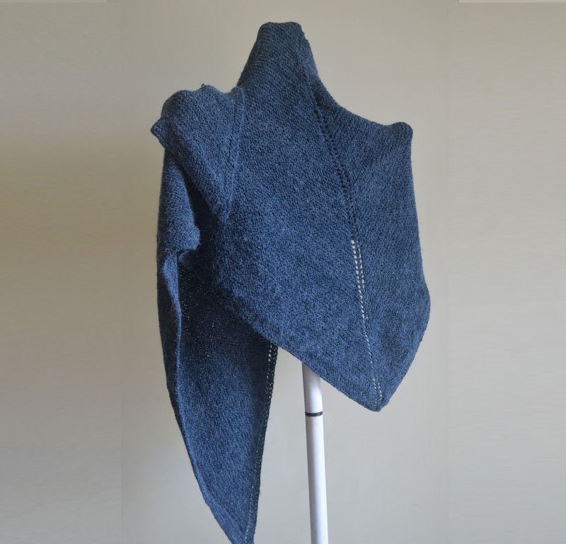 Hand Knitted TRIANGULAR-SHAWL..CLASSIC-CHARM-IN-ETERNAL