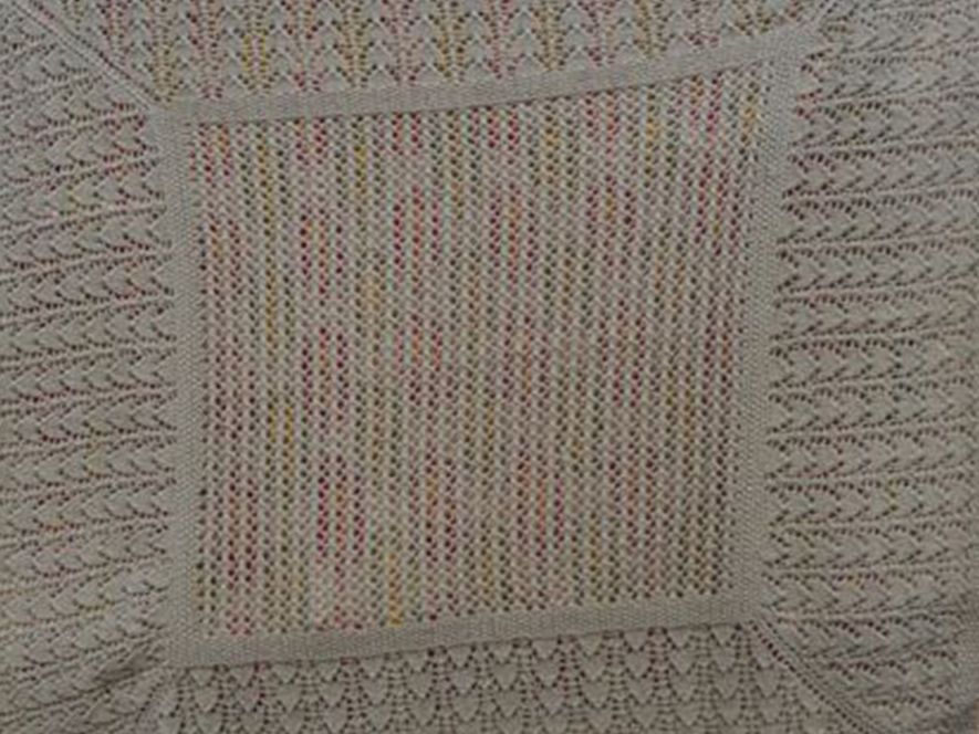 Baby Blanket..Bunny Lace..Lovely Lilac