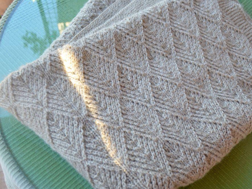Baby Blanket.. Brownish Biscuit shades in Lace