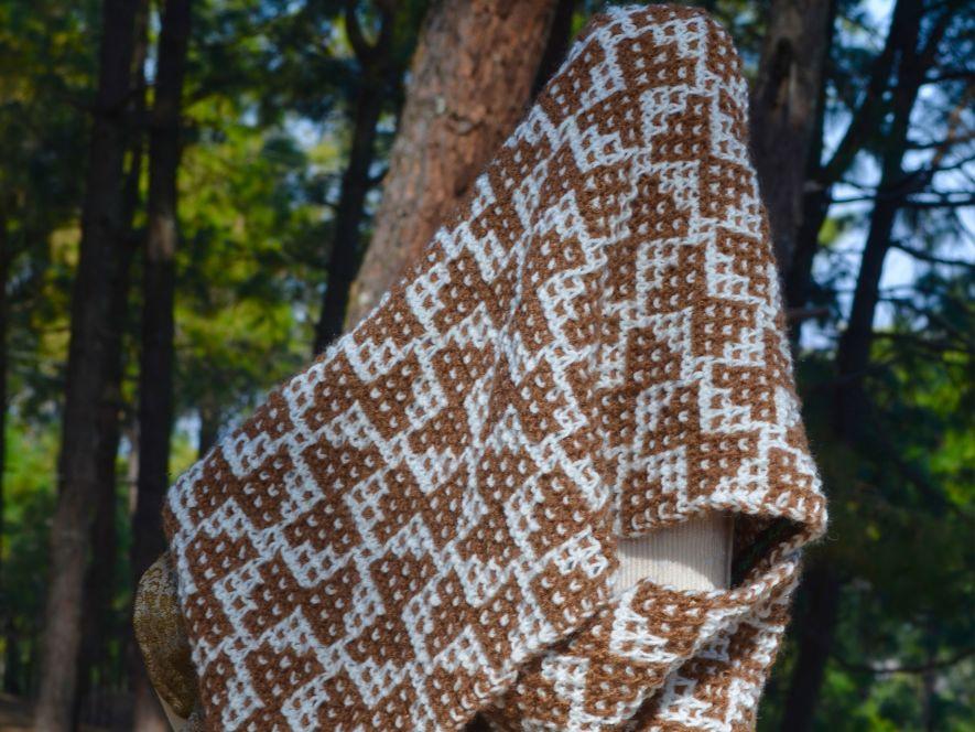 Cowl  Peanut Butterflies