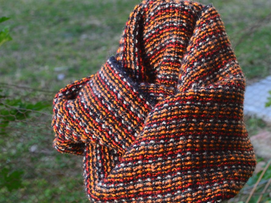 Cowl, Orange and Brown