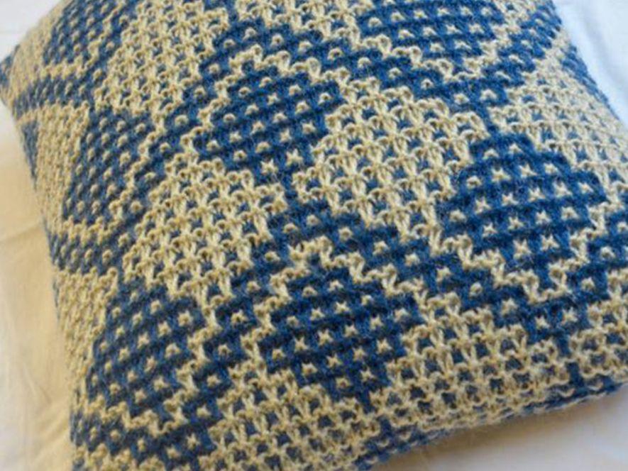 Cushion Cover… Fruit Trees in Indigo/Cream