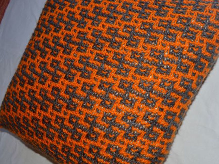 Cushion cover…Rangoli in Grey/Orange