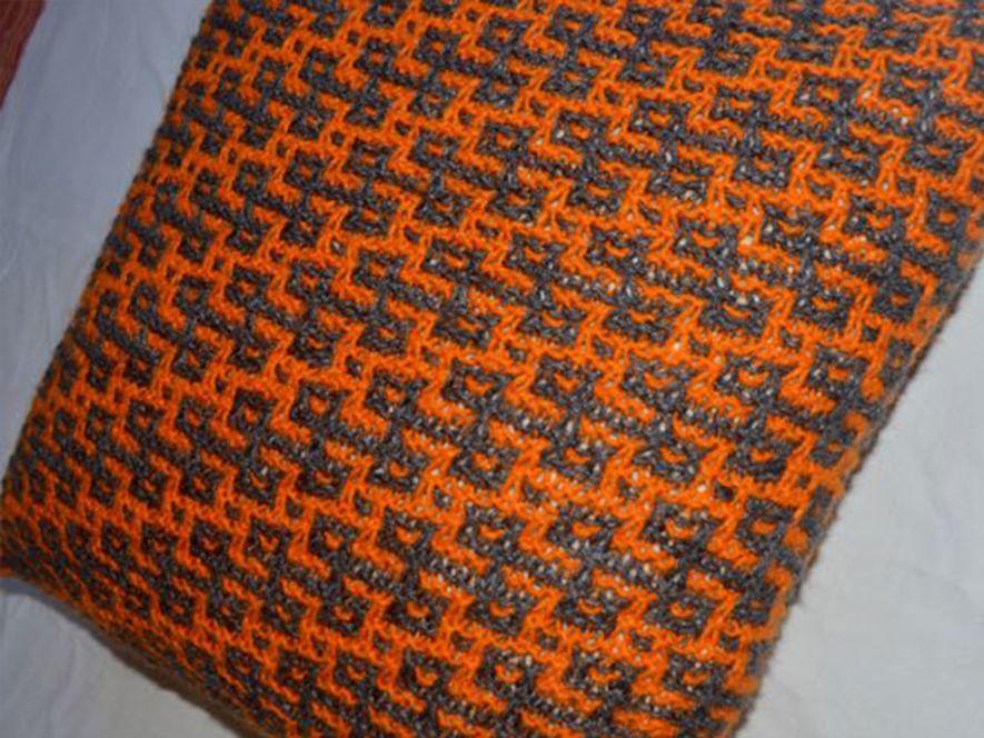 Cushion cover…Rangoli in Grey/Orange